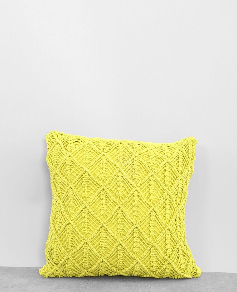 housse de coussin macram jaune 902871034a00 pimkie. Black Bedroom Furniture Sets. Home Design Ideas
