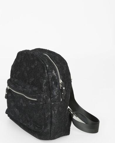 Rucksack mit Spitze Schwarz