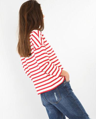 Matrosen-Sweatshirt mit gesticktem Schriftzug Altweiß