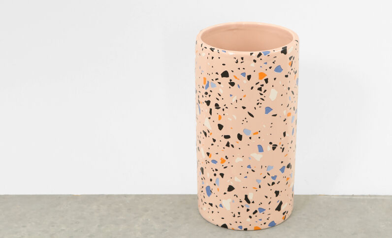 Gefleckte Vase Rosa