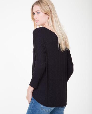 T-shirt maniche a pipistrello nero
