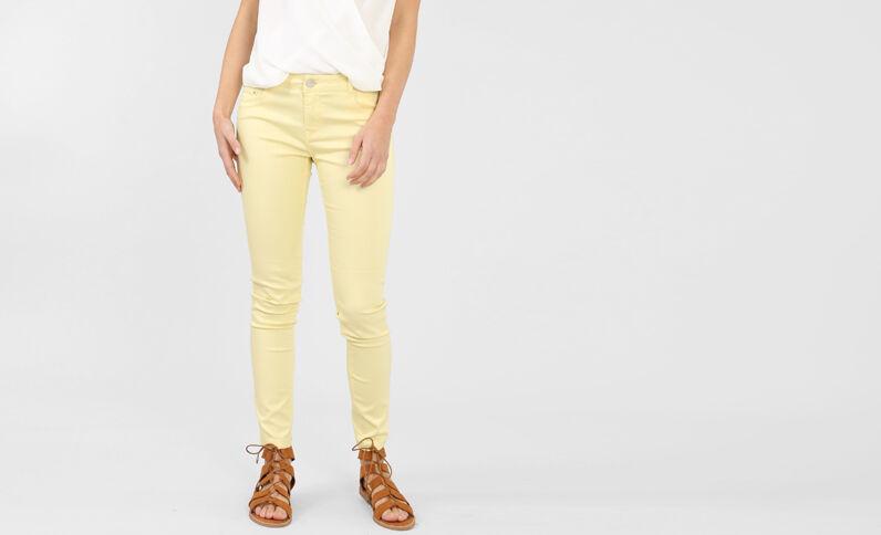 Pantalon skinny jaune pâle