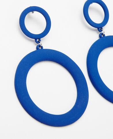 Ohrringe XL Metallic-Blau