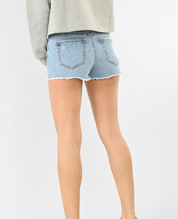 Mini short denim blu