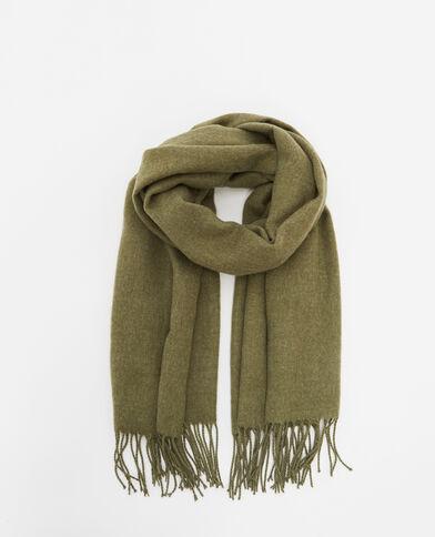Schal mit Fransen Khaki