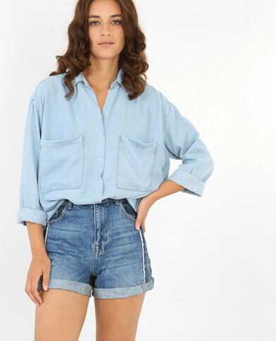 Schön fallendes XL-Hemd Blau