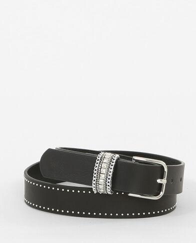 Cinturón con tachuelas negro