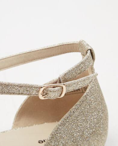 Ballerines glitter doré