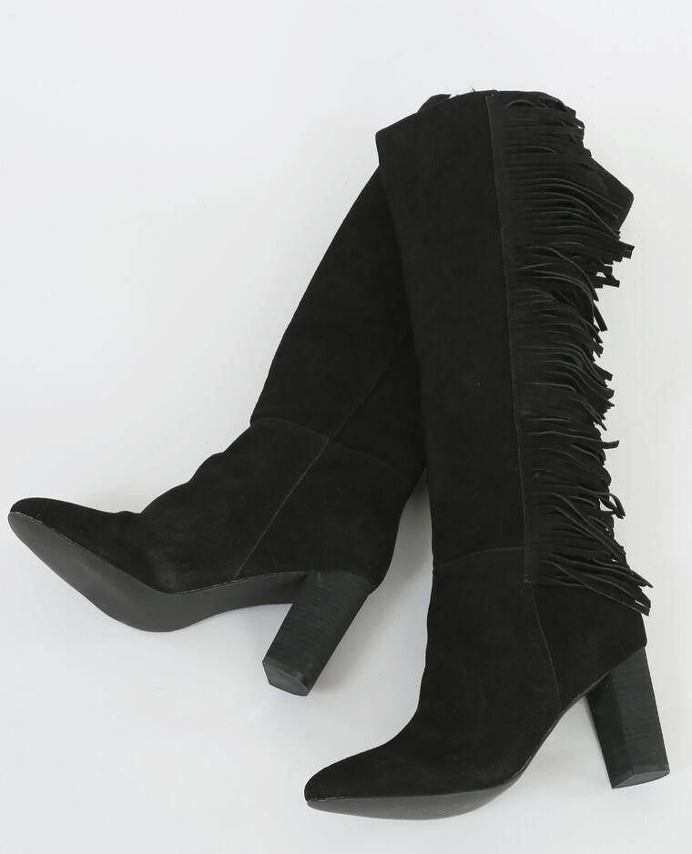 schwarze stiefel mit fransen schwarz 986105899a08 pimkie. Black Bedroom Furniture Sets. Home Design Ideas
