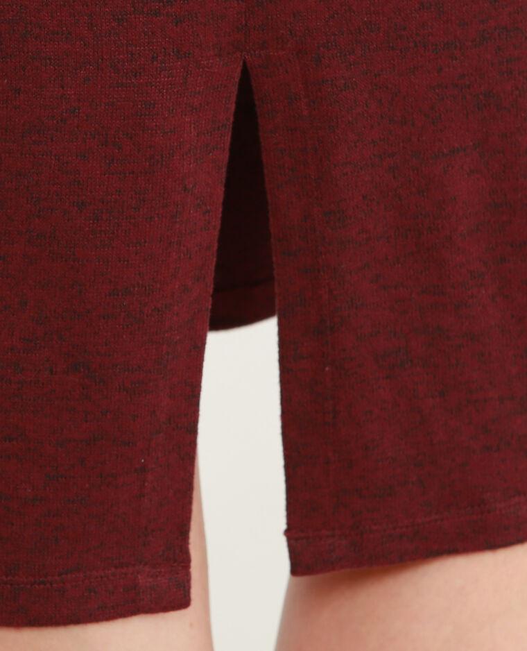 Robe pull longue Bordeaux