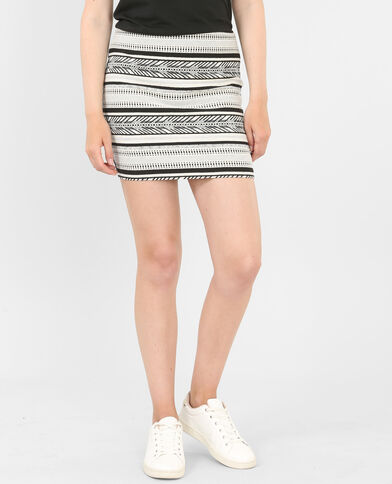 Gonna bodycon jacquard bianco