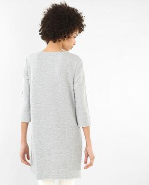 Sweatshirt-Kleid mit Schriftzug Grau meliert