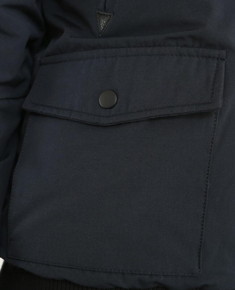 Jacke mit Webpelz Marineblau