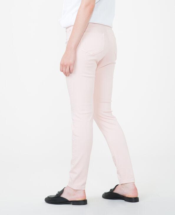 Pantalón skinny push-up rosa