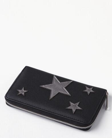 Portefeuille compagnon étoiles noir