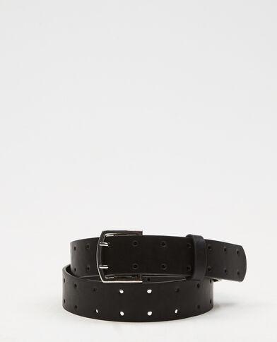 Cinturón ancho calado negro