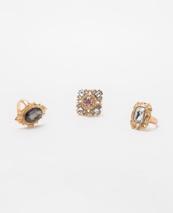 Lotto da 3 anelli dorati dorato