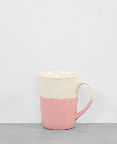 Mug ceramica screziato rosa