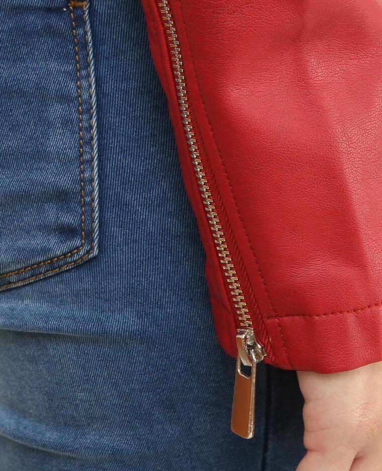 Chaqueta estilo motero. rojo