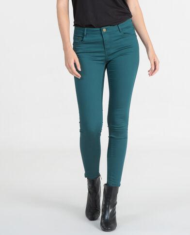 7/8-Skinny-Jeans Tannengrün