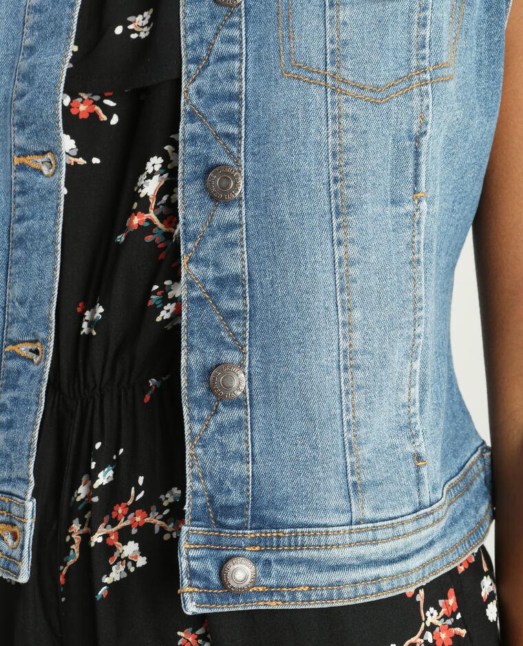 Veste en jean sans manches Bleu