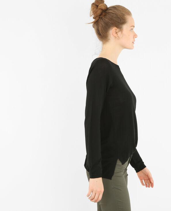 Leichter, einfacher Pullover Schwarz