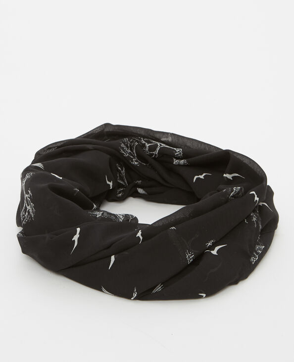 Snood sottile nero