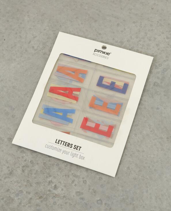 Letras de colores para lightbox caramelo