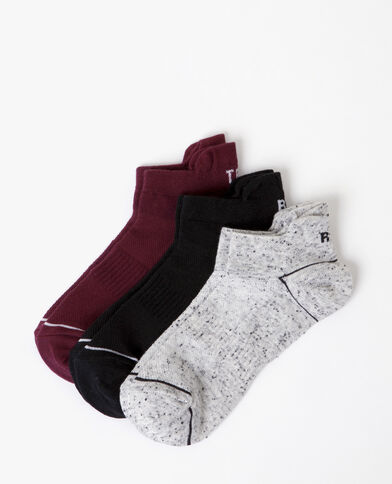 Lote de calcetines sport granate