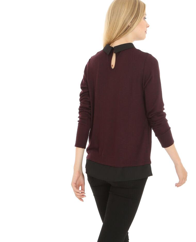 pullover mit hemdkragen bordeauxrot 403187326j04 pimkie. Black Bedroom Furniture Sets. Home Design Ideas