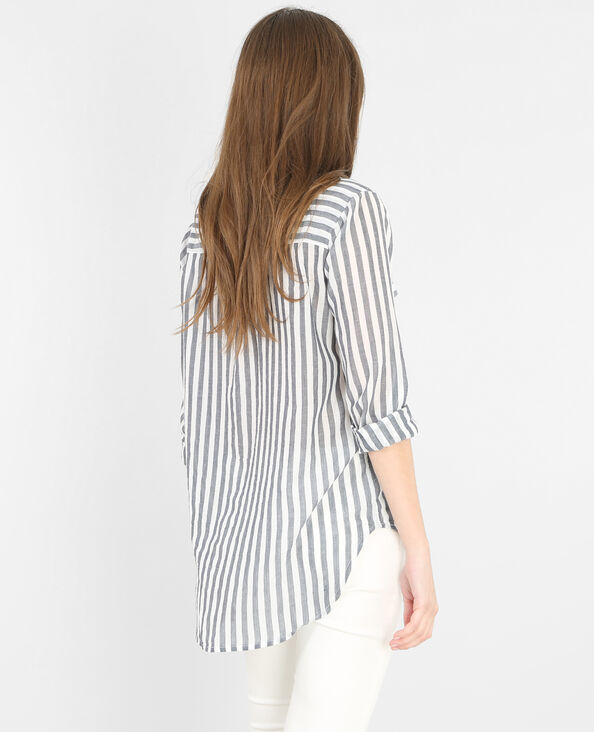 Camicia a righe bianco sporco