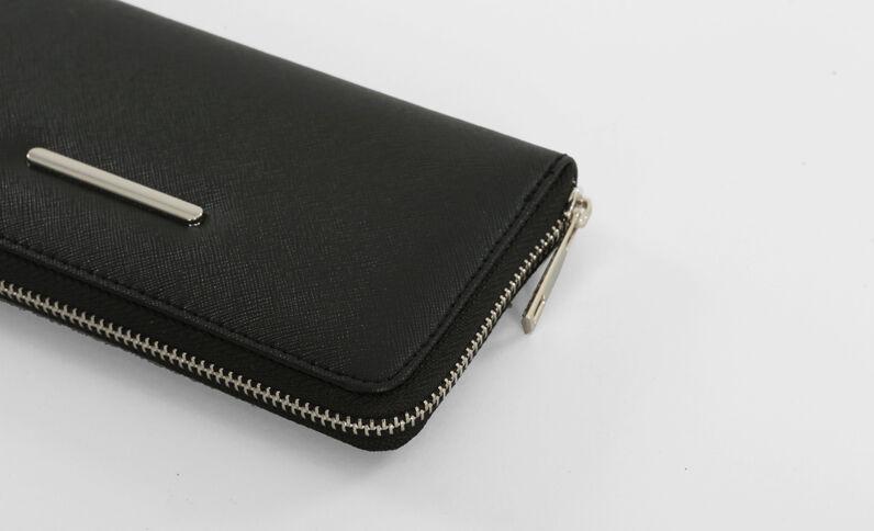 Portefeuille zippé noir