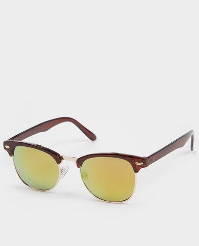 Sonnenbrille Retrostil Grau