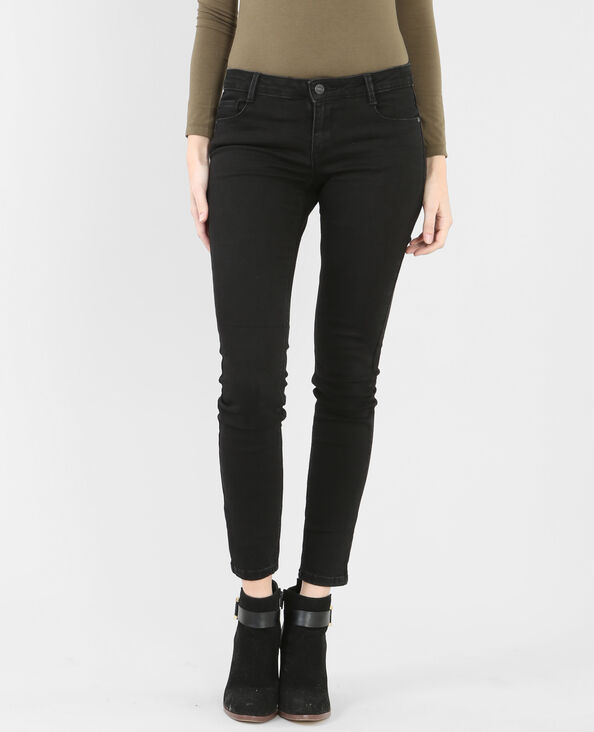 Zwarte slim jeans zwart