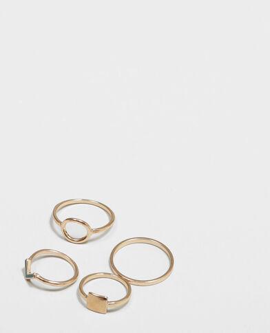Lotto di anelli sottili dorato