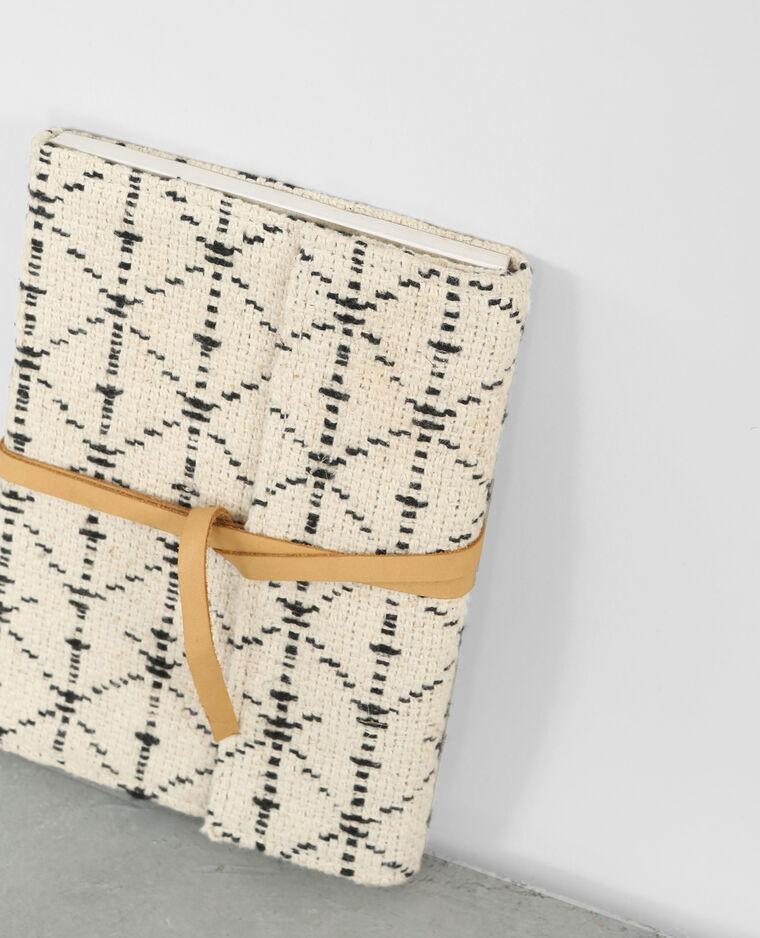Notebook jacquard bleu marine