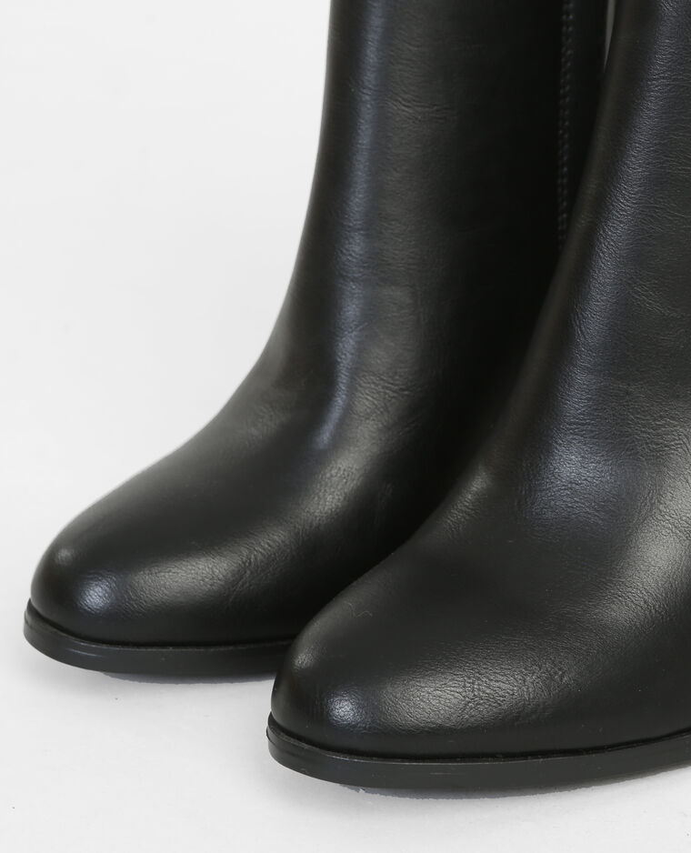 Boots talon rond noir