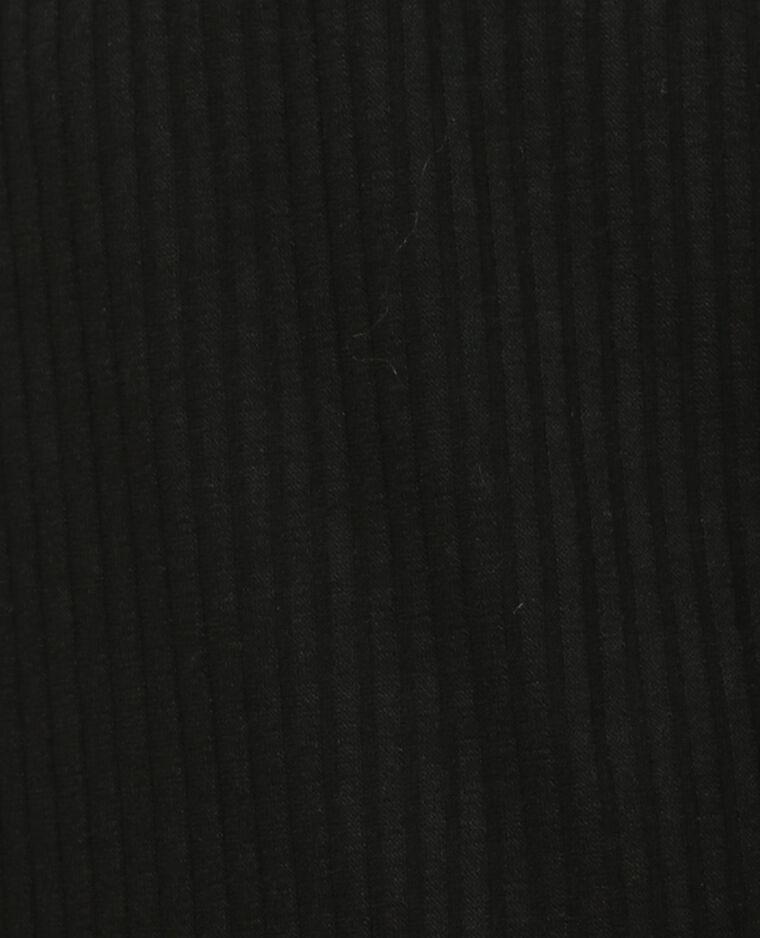 Chaqueta abierta acanalada negro