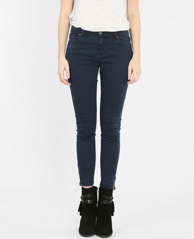 Skinny con zip blu marino