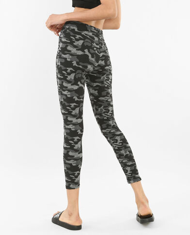 Running-Leggings mit Print Grau