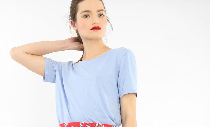 Camiseta cuello raw cut parma