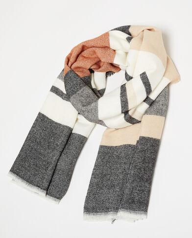 Warmer Schal mit Streifen camel