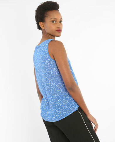 Locker fallendes Top mit Print Blau