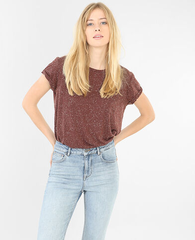 T-shirt donna screziata Rosso