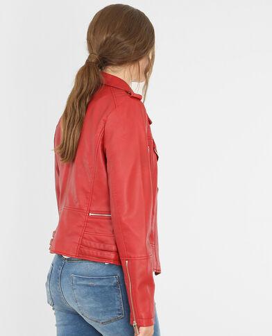 Jacke im Biker-Stil Rot