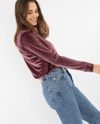 Velours-Sweatshirt Violett