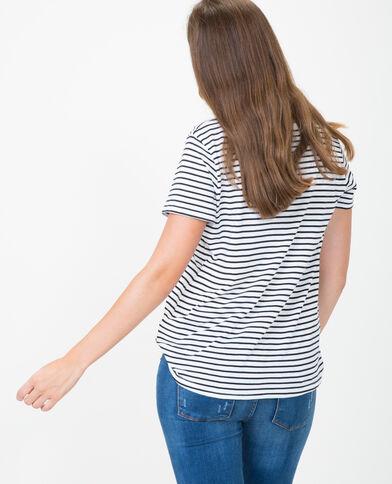 T-shirt  collo a V écru