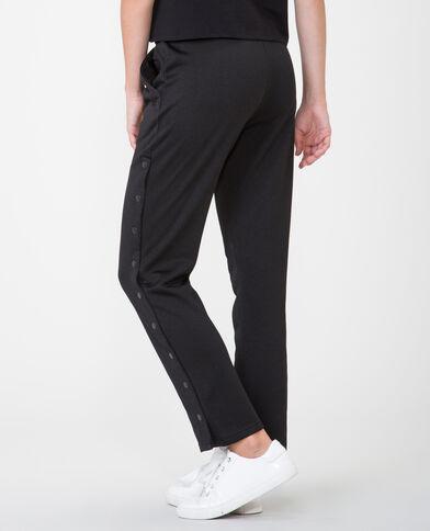 Pantalone da jogging con bottoni a pressione nero