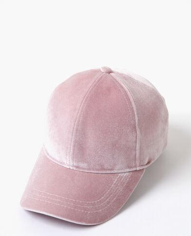 Casquette velours rose