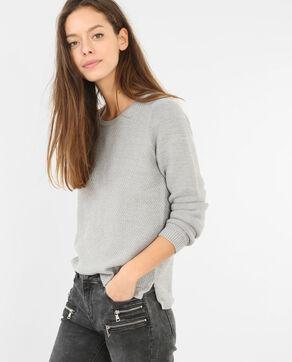 Jersey de punto variado gris jaspeado